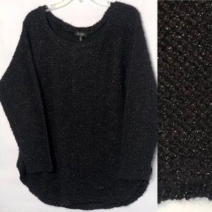 Jessica Simpson Black & Silver Sweater (XL)